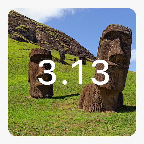 Photo représentative de la version 3.13 d'Ephoto Dam. Nous voyons 2 statuts en pierre sur une colline d'herbe
